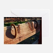 Horse Shoes On the Fence Greeting Card