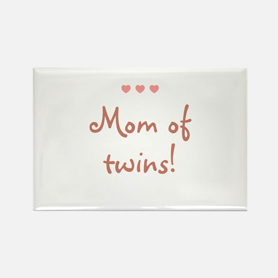 Mom of twins! Rectangle Magnet