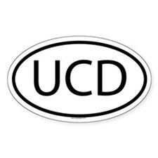 UCD Oval Decal