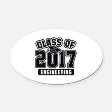 Class Of 2017 Engineering Oval Car Magnet