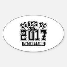 Class Of 2017 Engineering Sticker (Oval)
