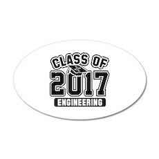 Class Of 2017 Engineering 22x14 Oval Wall Peel