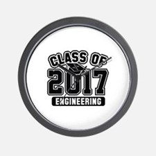 Class Of 2017 Engineering Wall Clock