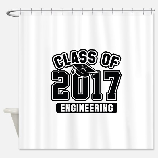 Class Of 2017 Engineering Shower Curtain