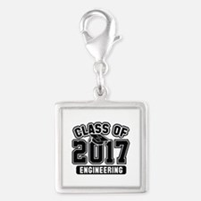 Class Of 2017 Engineering Silver Square Charm