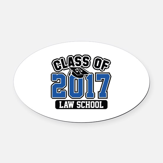 Class Of 2017 Law Oval Car Magnet
