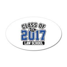 Class Of 2017 Law 22x14 Oval Wall Peel