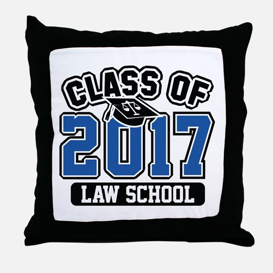 Class Of 2017 Law Throw Pillow