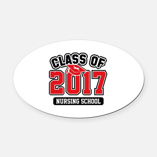 Class Of 2017 Nursing Oval Car Magnet
