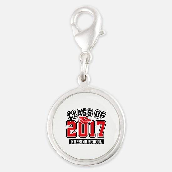 Class Of 2017 Nursing Silver Round Charm