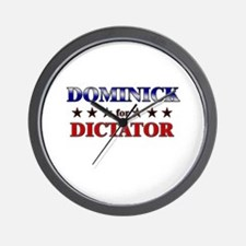 DOMINICK for dictator Wall Clock