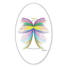 Angel with Wings Oval Decal