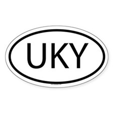 UKY Oval Decal