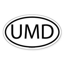 UMD Oval Decal