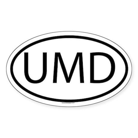 UMD Oval Sticker