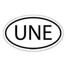 UNE Oval Decal