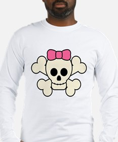 Girly Skull Long Sleeve T-Shirt