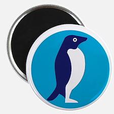 Adelie Penguin Circle Retro Magnets