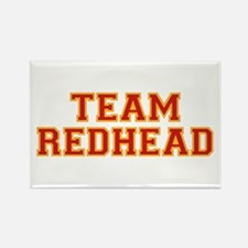 Team Redhead - Red/Gold Rectangle Magnet