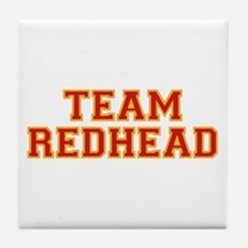 Team Redhead - Red/Gold Tile Coaster