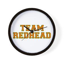 Team Redhead - Orng/Grn Wall Clock
