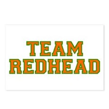 Team Redhead - Orng/Grn Postcards (Package of 8)