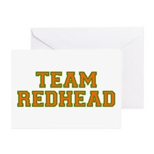 Team Redhead - Orng/Grn Greeting Cards (Pk of 10)
