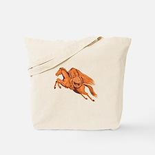 Headless Horseman Pumpkin Head Drawing Tote Bag