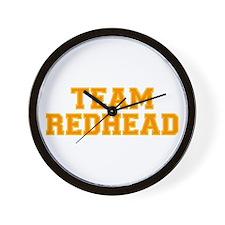 Team Redhead - Orng/Gold Wall Clock