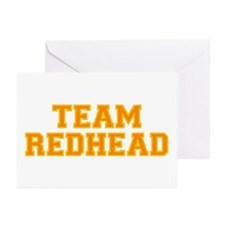 Team Redhead - Orng/Gold Greeting Cards (Pk of 10)