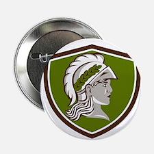 """Minerva Head Crest Retro 2.25"""" Button (10 pack)"""