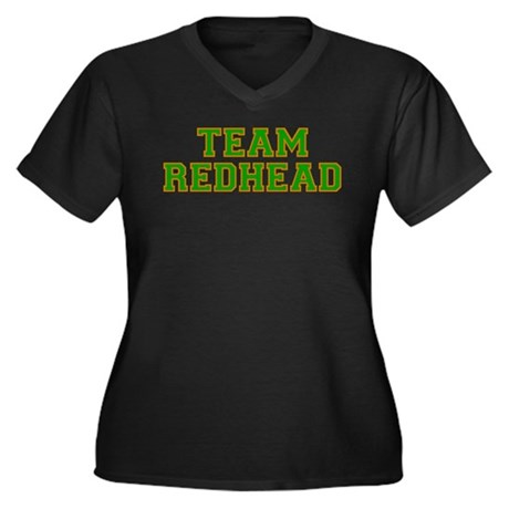 Team Redhead - Grn/Orng Women's Plus Size V-Neck D