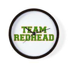 Team Redhead - Grn/Orng Wall Clock