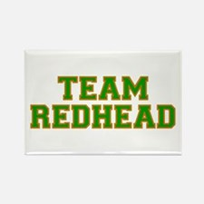 Team Redhead - Grn/Orng Rectangle Magnet