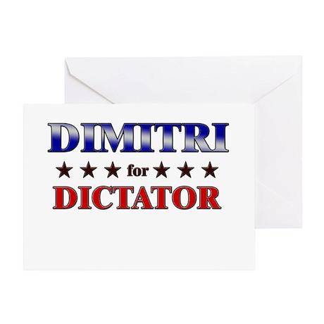 DIMITRI for dictator Greeting Card