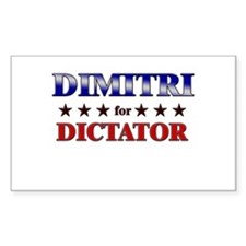DIMITRI for dictator Rectangle Decal