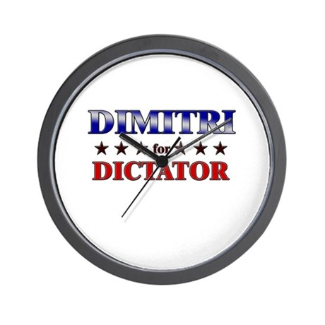 DIMITRI for dictator Wall Clock