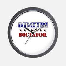 DIMITRI for dictator Wall Clock