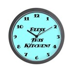 Wall Clock - Bless This Kitchen - Sky Blue