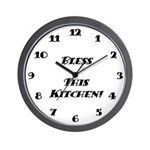 Wall Clock - Bless This Kitchen - White