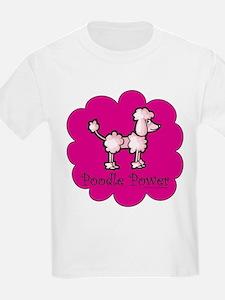Poodle Power Kids T-Shirt