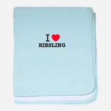I Love RIESLING baby blanket