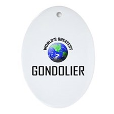 World's Greatest GONDOLIER Oval Ornament