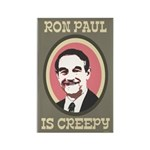 Ron Paul is Creepy Rectangle Magnet