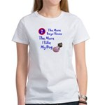 The More Boys, I Like My Dog Women's T-Shirt