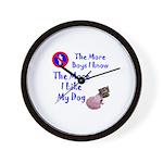The More Boys, I Like My Dog Wall Clock