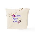 The More Boys, I Like My Dog Tote Bag