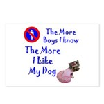 The More Boys, I Like My Dog Postcards (Package of