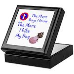 The More Boys, I Like My Dog Keepsake Box