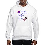 The More Boys, I Like My Dog Hooded Sweatshirt